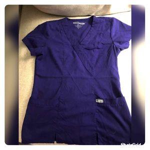 Grey's Anatomy purple scrub top xs